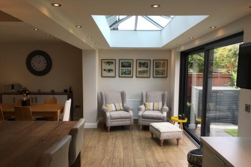 furniture inside light house extension